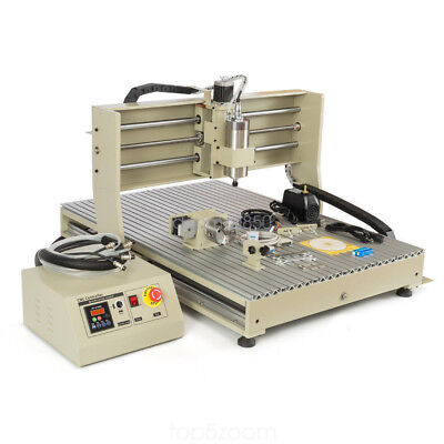 Usb Port 6090 4 Axis Cnc Router Engraver -1500w Vfd Engraving Mill Drill Machine