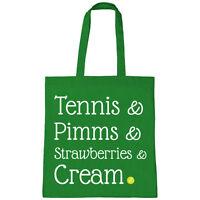 Batch1 Tennis & Pimms & Fragole & Crema Wimbledon Torneo Borsa Shopper Crema-  - ebay.it