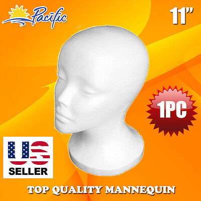 11' STYROFOAM FOAM MANNEQUIN MANIKIN head wig display hat glasses
