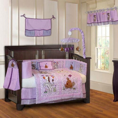 BabyFad 10 Piece Jungle Girl Baby Crib Bedding set