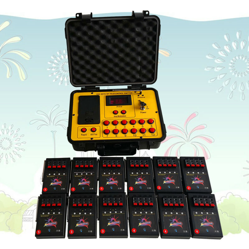 48 cues fireworks firing system 500M wireless remote control ABS Waterproof Case