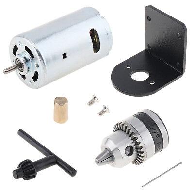 Mini Hand Drill Lathe Press 555 Dc Motor 0.6-6mm Chuck Mounting Bracket 12-36v
