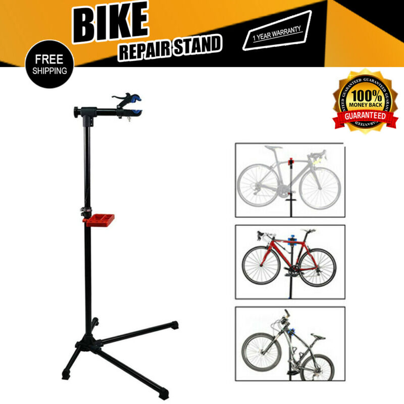 Bike Repair Work Stand Telescopic Arm Cycling Bicycle Rack Adjustable Holder