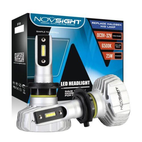 Car Parts - Novsight H7 Fanless LED Headlight Bulbs Conversion Kit Xenon White 50W 10000LM