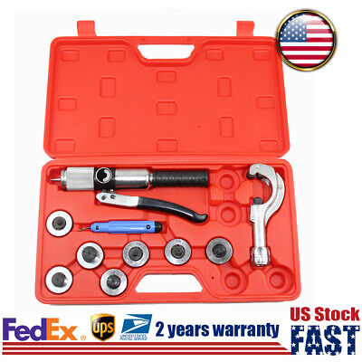 Hydraulic Tube Expander Hvac Tool Set 7 Lever Tubing Expanding Swaging Kit Us