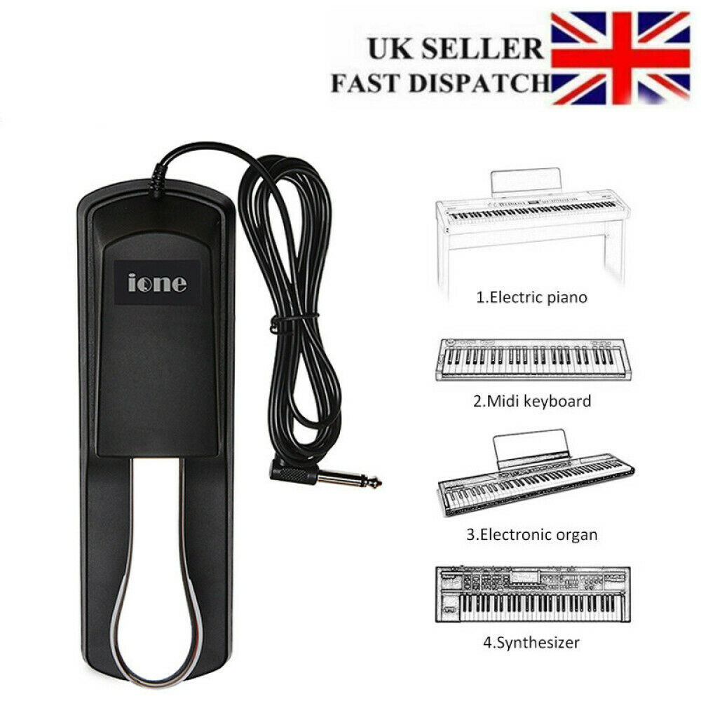 Electronic Keyboard Sustain Foot Pedal for Casio Yamaha Roland Digital Piano UK