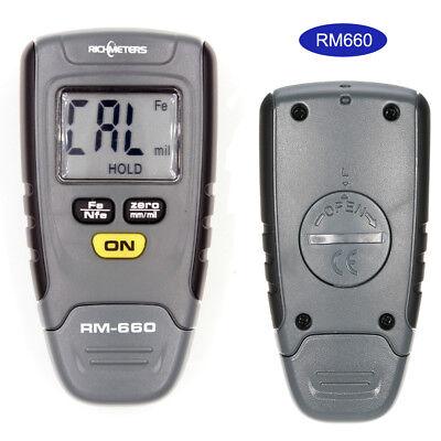 Mini Rm660 Coating Thickness Gauge Handheld Digital Car Meter Tester Fenfe Edd
