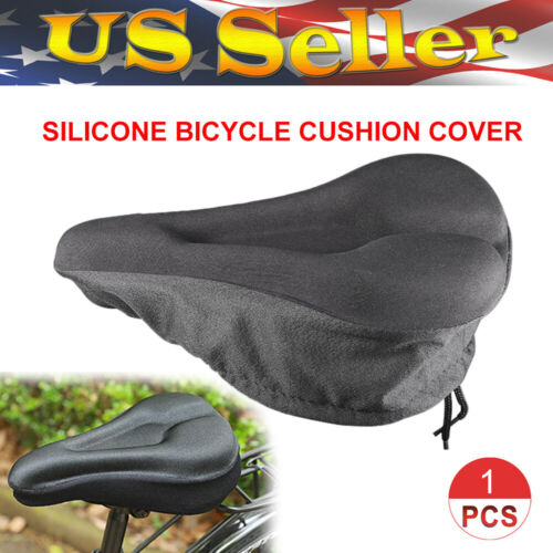 Bike Bicycle Gel Cushion Extra Comfort Sporty Wide Big Soft Pad Seat Cover US