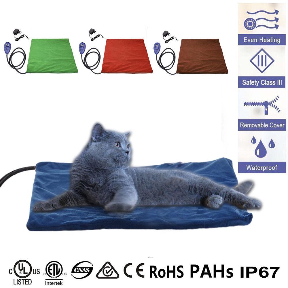 Wärmematte Heizmatte Kissen Wasserdicht Haustiere Hunde Heizung Katze Heizdecke