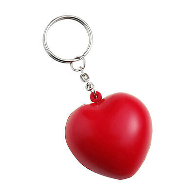 Stress Ball Key - Red Anti Stress Heart Key Ring Reliever ADHD Autism Keyring Chain Love Ball Gift