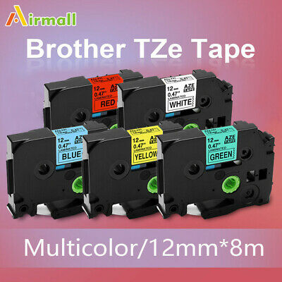 Tz-231 Tze-231 5 Pk Compatible Label Maker Tape 12mm For Brother P-touch Pt-d210