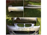 e60 5 series Lci genuine M SPORT complete front &rear bumpers + side skirts,£550