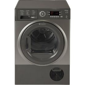 NEW 9KG HOTPOINT Ultima S-Line SUTCD97B6GM Condenser Tumble Dryer - Graphite