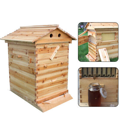 Beekeeping Brood Cedarwood Box Bee Wooden House Deluxe Bee Hive Starter Kit Ups