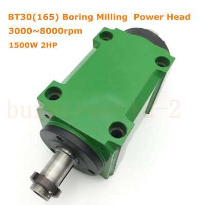 Bt30165 Spindle Power Head 1500w 1.5kw 2hp Boring Milling Tool 30008000rpm