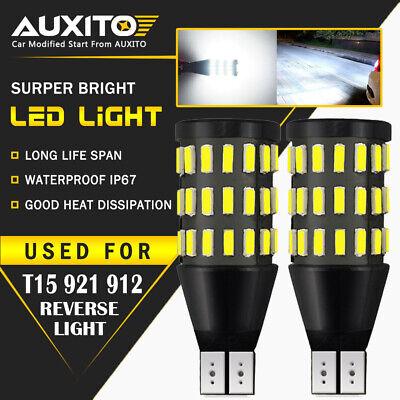 2X AUXITO T15 921 912 White LED BackUp Reverse Light Bulbs For Subaru Hyundai A
