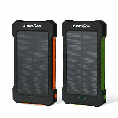 20000mAh Powerbank Externer Batterie Solar Charger 2USB Tragbare Ladegrät 6LED Universal Power Bank