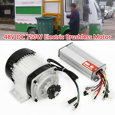 Electric Brushless Motor Tricycle Motor 48v Dc 750w Controller Diy Tricycle Hot
