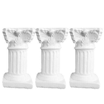3 pcs Resin Roman Column Decorative Simulation Accessories for Fish Tank