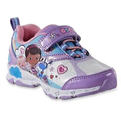 Disney Junior Doc Mcstuffins Light Up Shoes Size 6 7 8 9 10 11 12 Stuffy Lambie