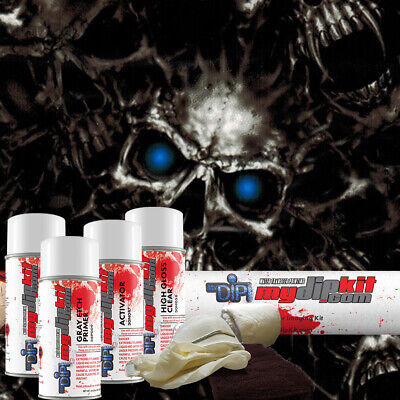 Hydrographic Film Kit Hydro Dipping Water Transfer Printing Blue Vampire Dd-975