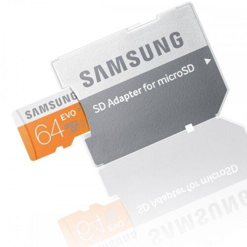 Samsung Speicherkarte SD Micro SDXC 64GB GB EVO UHS-I SD XC Class 10 mit Adapter