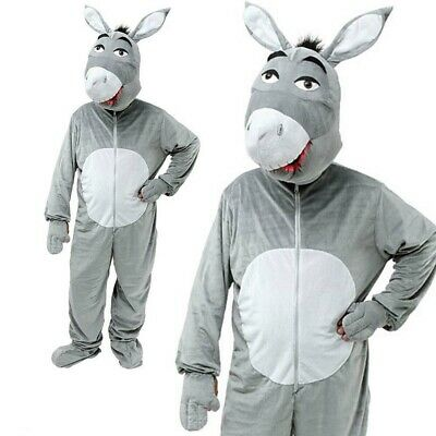 Großer Kopf Esel Kostüm Tier Bauernhof Kostüm Maskottchen Outfit Neu - Esel Kopf Kostüm