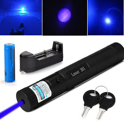 Military 5mw Blue Purple Laser Pointer 405nm Lazer Pen Beam18650batterycharger