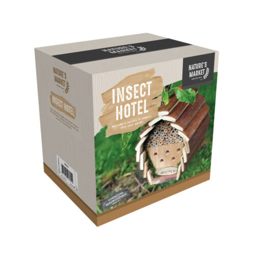 Wooden+Insect+Bee+Hotel+Hanging+Bug+House+Brown+Garden+Outdoor