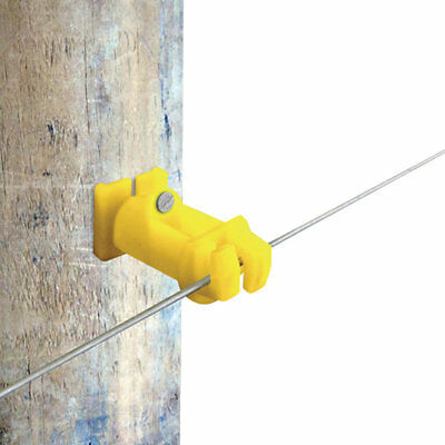 Patriot - Wood Post Slant Nail 2 Insulator - Yellow