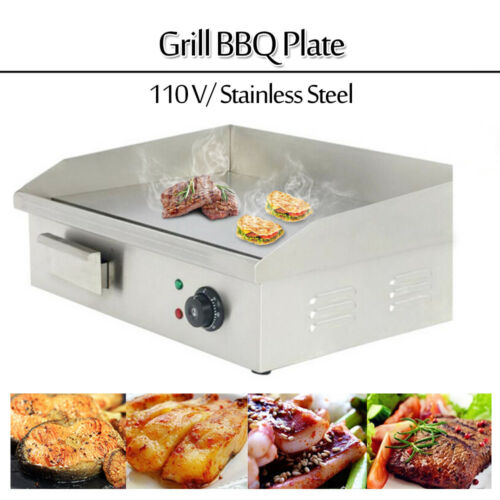 Electric Griddle Flat Top Grill 3000W 110V Hot Plate BBQ Cou