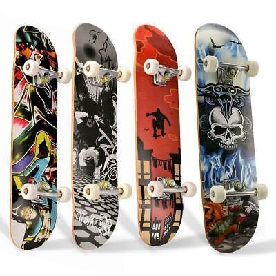 "31"" X 8"" Complete Skateboard, 9 Layer Maple Wood Long Board Deck For Beginner"