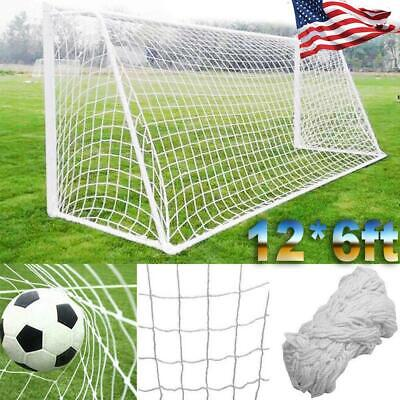 aa3e771c6 12 X 6FT PE Football Soccer Goal Post Net Sports Training Practice Outdoor  USA
