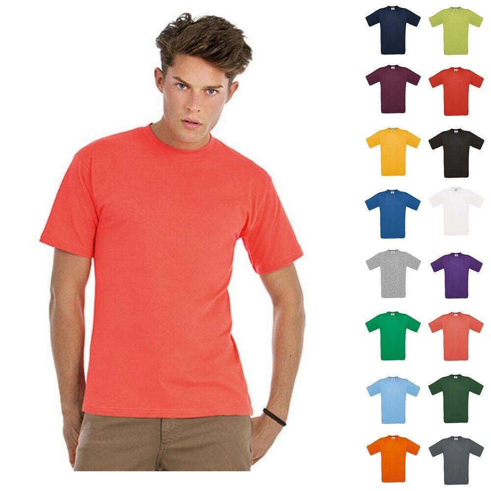 B&C T-Shirt Herren Exact 150 Kurzarm Classic Shirt kurze Ärmel Mann Größe S-4XL