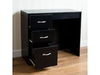Riano Bedroom Furniture Black Wood Dressing Table Drawers Desk