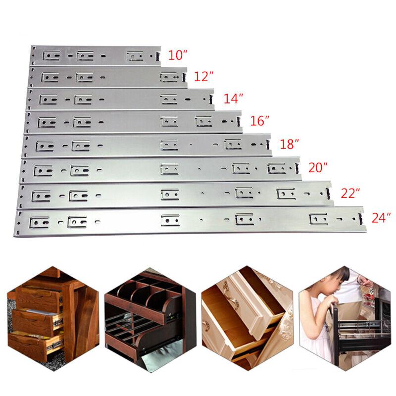 """10""""-24"""" Full Extension Ball Bearing Heavy Duty Drawer Slide Track Rail 100-lb"""