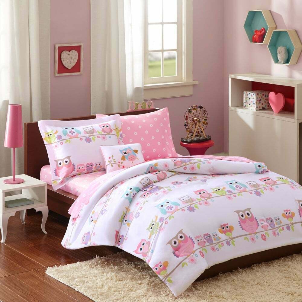 Mi-Zone Kids Wise Wendy Full Comforter Sets For Girls - Pink