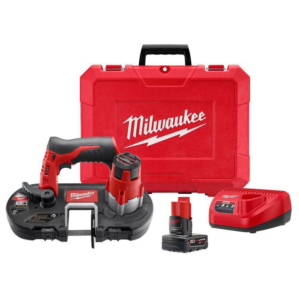 MILWAUKEE 242921XC Cordless Band Saw Kit,12.0V,27