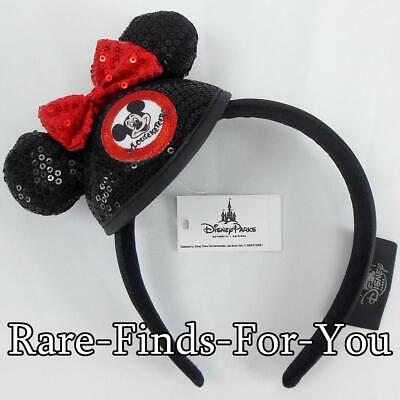 Disney Parks Minnie Mickey Mouse Club Mouseketeer Mini Sequin Ear Hat Headband - Mickey Ears Hats