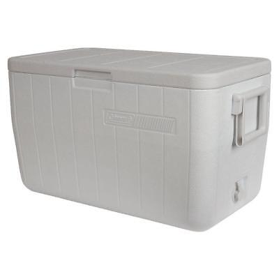 White 48 Qt. Performance Marine Chest Cooler with Leak Resistant Channel Drain