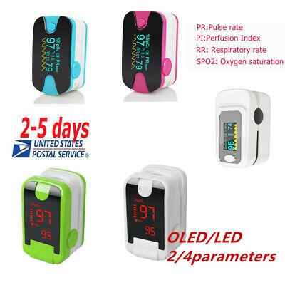 Pulse Oximeter Blood Oxygen Spo2 Monitor Pr Pi Respiratory Rate Fdace Oledled