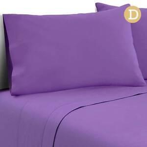 Free Delivery: 4 Piece Microfibre Sheet Set Double– Purple Homebush Strathfield Area Preview