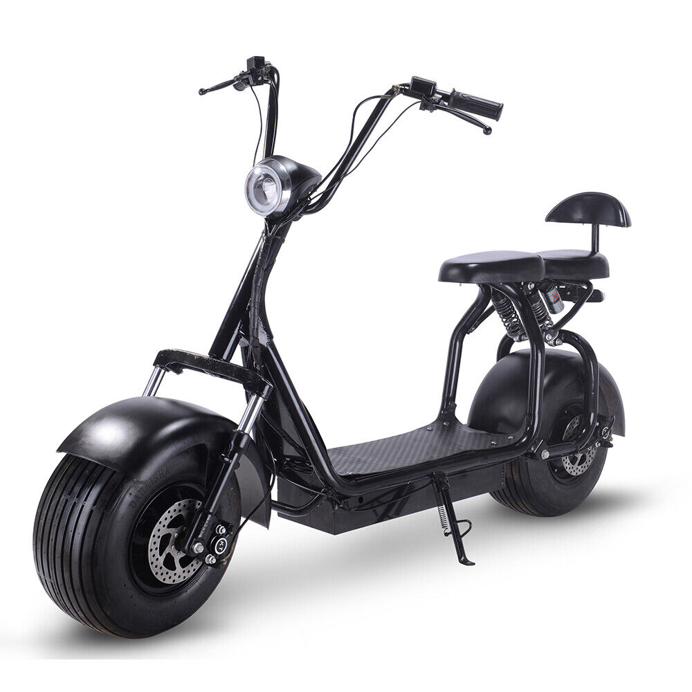 Electric Scooter 1000W Fat Tires Adult Citycoco, 2 Seat Knoc