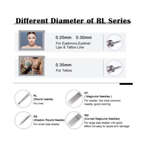 как выглядит 50pcs Tattoo Cartridge Needle Sterilized Disposable For Eyebrow Eyeline Lips фото
