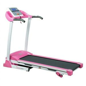 NEW Sunny Health  Fitness P8700 Pink Treadmill w/ Manual Incline and LCD Display Condtion: New. Color for Motor is Sl...