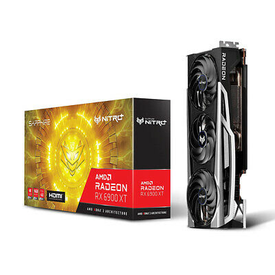 Sapphire 11308-01-20G RX 6900 XT Nitro+ AMD Radeon PCIe 4.0 Gaming Graphics Card