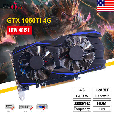 GTX 1050Ti GDDR5 4GB 128Bit PCI-E Video Game Graphics Card For NVIDIA DeForce