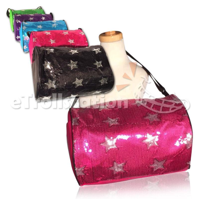 Girls Kids Youth Sequin Chevron Wave Shoulder Dance Gymnastics Cheer Tote Bag