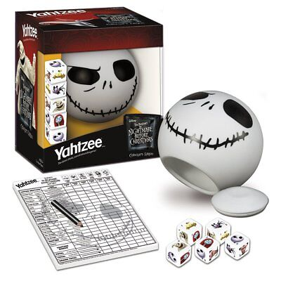 Nightmare Before Christmas Collectors Edition Yahtzee Dice Game