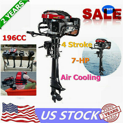 Hangkai 4stroke 7hp Outboard Motor 196cc Fishing Boat Engine Air Cooling System